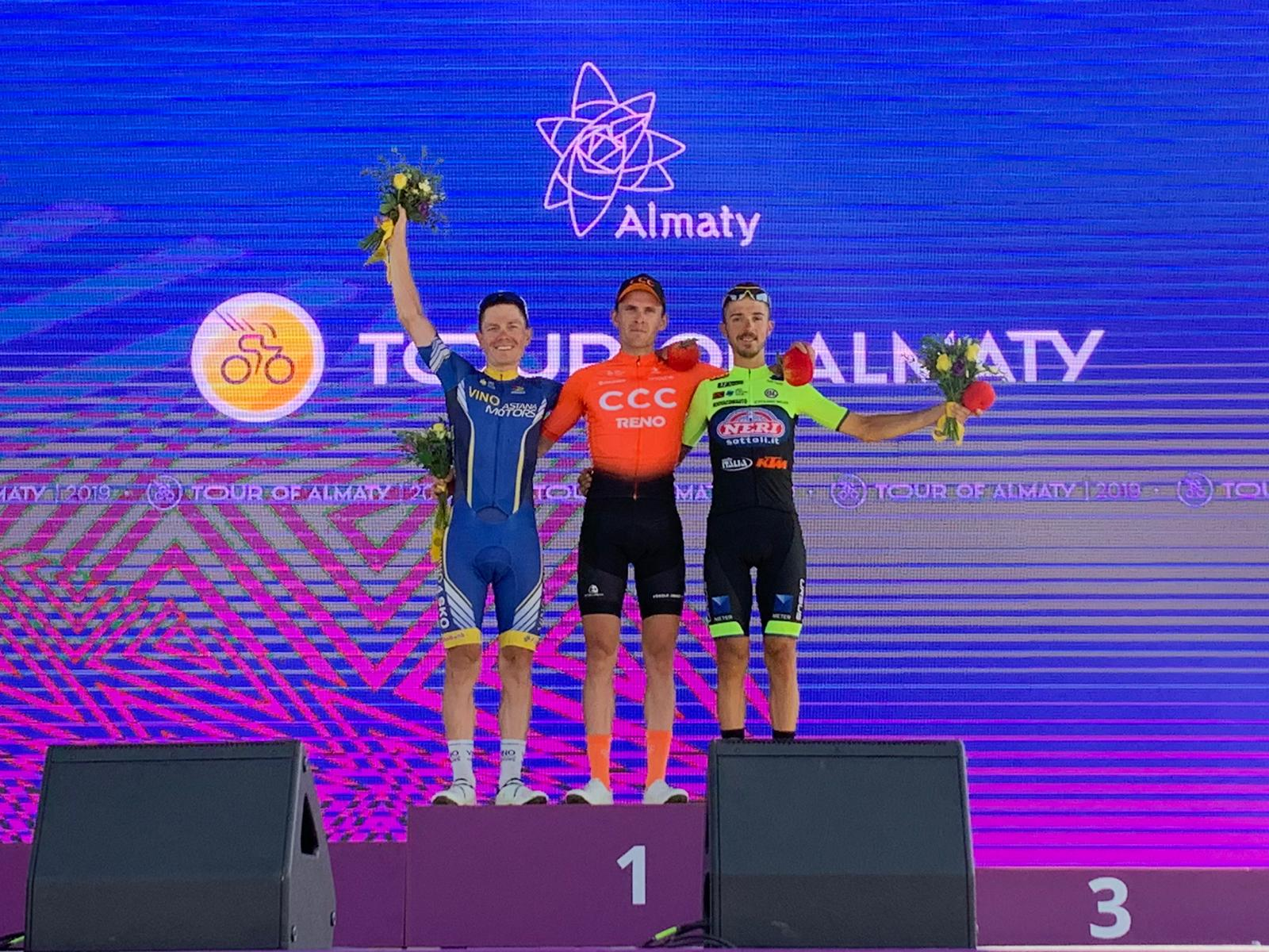 TOUR OF ALMATY: DAVIDE GABBURO ON THE PODIUM IN THE 1ST STAGE