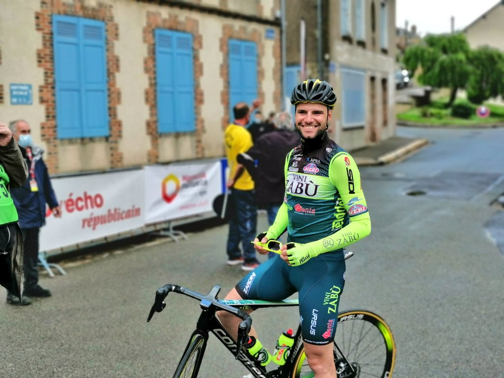 TOUR DU LIMOUSIN: DAVIDE ORRICO IN THE BREAKAWAY OF THE FINAL STAGE