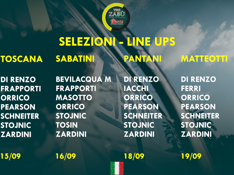 LINE UPS FOR THE UPCOMING ITALIAN RACES